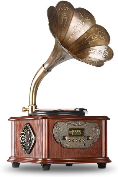 Tourne disque avec trompette